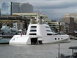 London September 6 2016 (4) Mega Yacht A Hamilton. Design by Philippe Starck. Owned by Andrei Melnichenko (28877121254).jpg