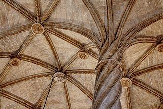 Valencian Gothic - Detail of the Llotja de la Seda, Valencia.
