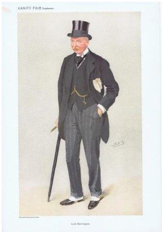 """Walter Barrington, 9th Viscount Barrington - Lord Barrington caricatured by """"Spy"""" in Vanity Fair, 1909"""