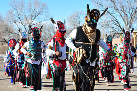 Matachines dancers in Ohkay Owingeh, New Mexico, 2012 Los Matachines de Ohkay Owingeh.jpg