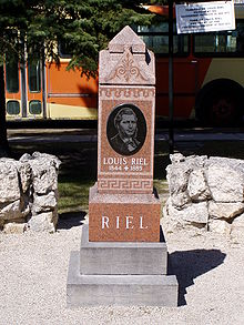 louis riel  riel s tombstone at the st boniface cathedral in winnipeg