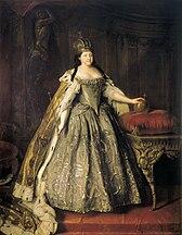 Empress Anna in coronation regalia