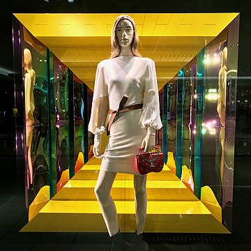 Louis Vuitton shopwindow (2019) Houston, United States Louis vuitton shop window, Galleria, Houston.jpg