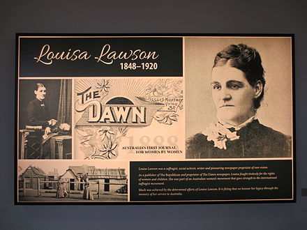 An example of a lightbox used as a commemorative plaque Louisa lawson suffragette light box memorial greenway.JPG