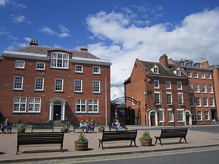 The college buildings on Castle Square.