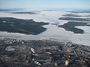 Luleå - Industrial district of Luleå