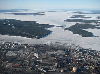 Luleå - Industrial district of Luleå