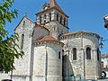 Mézin - Eglise Saint-Jean-Baptiste - Chevet de priorale romane.JPG