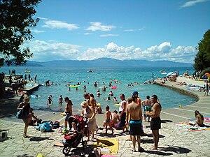 Malinska - Beach Haludovo in Malinska.
