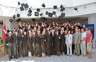 Absolventen der Weißrussischen Staatsuniversität in Minsk bei der Abschlussfeier