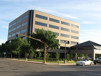 Mason City, Iowa - Principal Financial Group Building in Downtown Mason City