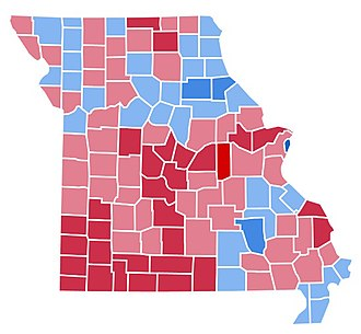 1988 United States presidential election in Missouri - Image: MO1988