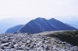 Caher West Top - Caher West Top (right) beyond the main Caher peak (middle)