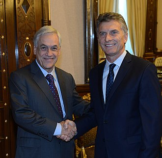 Conservative wave - Argentinea liberal Mauricio Macri alongside the Chilean conservative Sebastián Piñera.