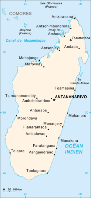 2009 Malagasy political crisis - The protests took place in Antananarivo, the capital and largest city in Madagascar.