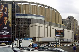 Unfinished Business (Jay-Z and R. Kelly album) - The exterior of Madison Square Garden, where the last show took place on October 30.
