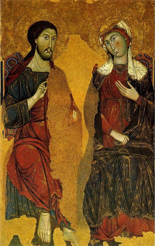 Cristo e la Vergine in trono