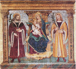 Madonna and Child with Saints Cosmas and Damian