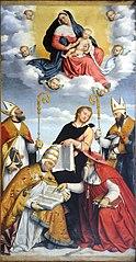 Madonna con Gesù Bambino in gloria, i quattro dottori della Chiesa e San Giovanni Evangelista