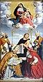 Madonna con Gesù Bambino in gloria, i quattro dottori della Chiesa e San Giovanni Evangelista di Giovanni Battista Moroni. Santa Maria Maggiore (Trento).jpg