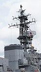 Main mast & forward funnel of JS Sendai (DE-232) right rear view at JMSDF Maizuru Naval Base July 29, 2017.jpg