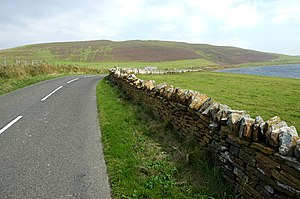 National Cycle Route 1 - Orkney Mainland near Evie