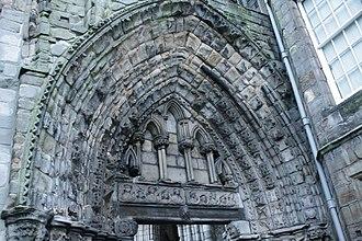 Holyrood Abbey - Main west door (detail) Holyrood Abbey