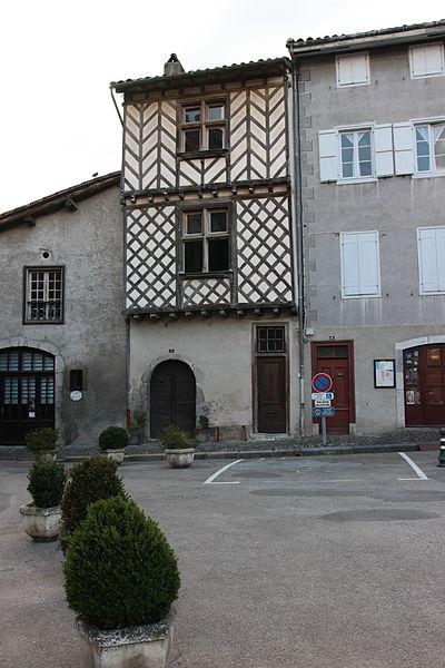 Saint-Lizier (Ariège, Midi-Pyrénées, France) - La Maison Loubières, Place de l'Église.