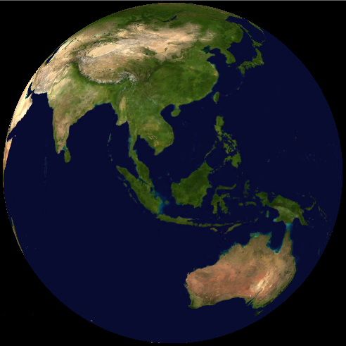 Malaysia on satellite map (NASA World Wind)