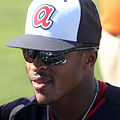 Mallex Smith after 2015 spring training game.jpg