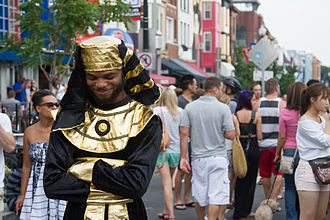Adams Morgan - A man dressed up at Adams Morgan Day Festival in 2013