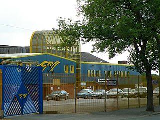 Belle Vue Stadium Greyhound racing track in Manchester, England