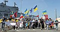 Manifestation No Mistrals For Putin Saint Nazaire 20140907 Volodymyr Tkachenko - 3.jpg