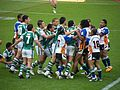 Maori and Aboriginal players brawl 2008 RLWC.jpg