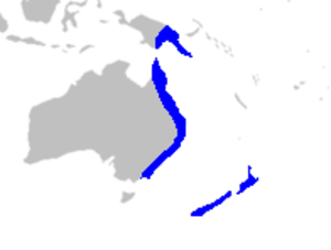 Ripogonum - Image: Map Ripogonaceae