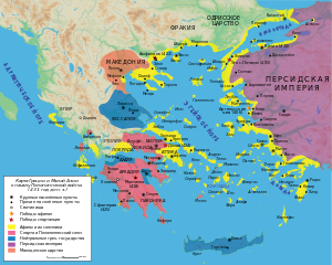 Map Peloponnesian War 431 BC-ru.svg