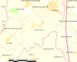 Battle of Le Transloy - Image: Map commune FR insee code 62515