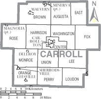 Municipalities and townships of Carroll County.