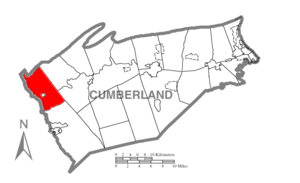 Hopewell Township, Cumberland County, Pennsylvania - Image: Map of Cumberland County Pennsylvania Highlighting Hopewell Township