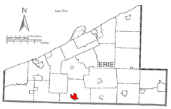 Map of Edinboro, Erie County, Pennsylvania Highlighted.png