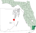 Map of Florida highlighting Cutler Bay.png