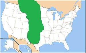 Map of the Great Plains (shaded in green).
