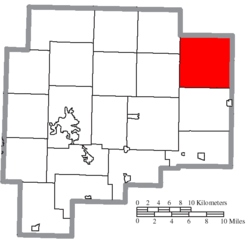 Location of Londonderry Township in Guernsey County