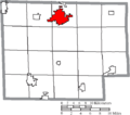 Map of Huron County Ohio Highlighting Norwalk City.png