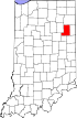 State map highlighting Wells County