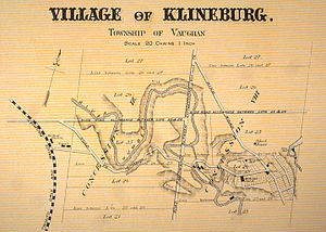 Kleinburg - An historical map of Kleinburg (then known as Klineburg), 1878.