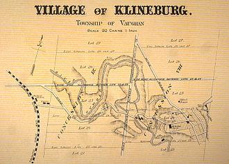 Kleinburg - An historical map of Kleinburg (then known as Klineburg), 1878.