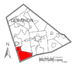 Map of Lebanon County, Pennsylvania Highlighting South Londonderry Township.PNG