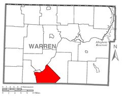 Map of Limestone Township, Warren County, Pennsylvania Highlighted.png