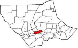 Map of Lycoming County Pennsylvania Highlighting Williamsport.png